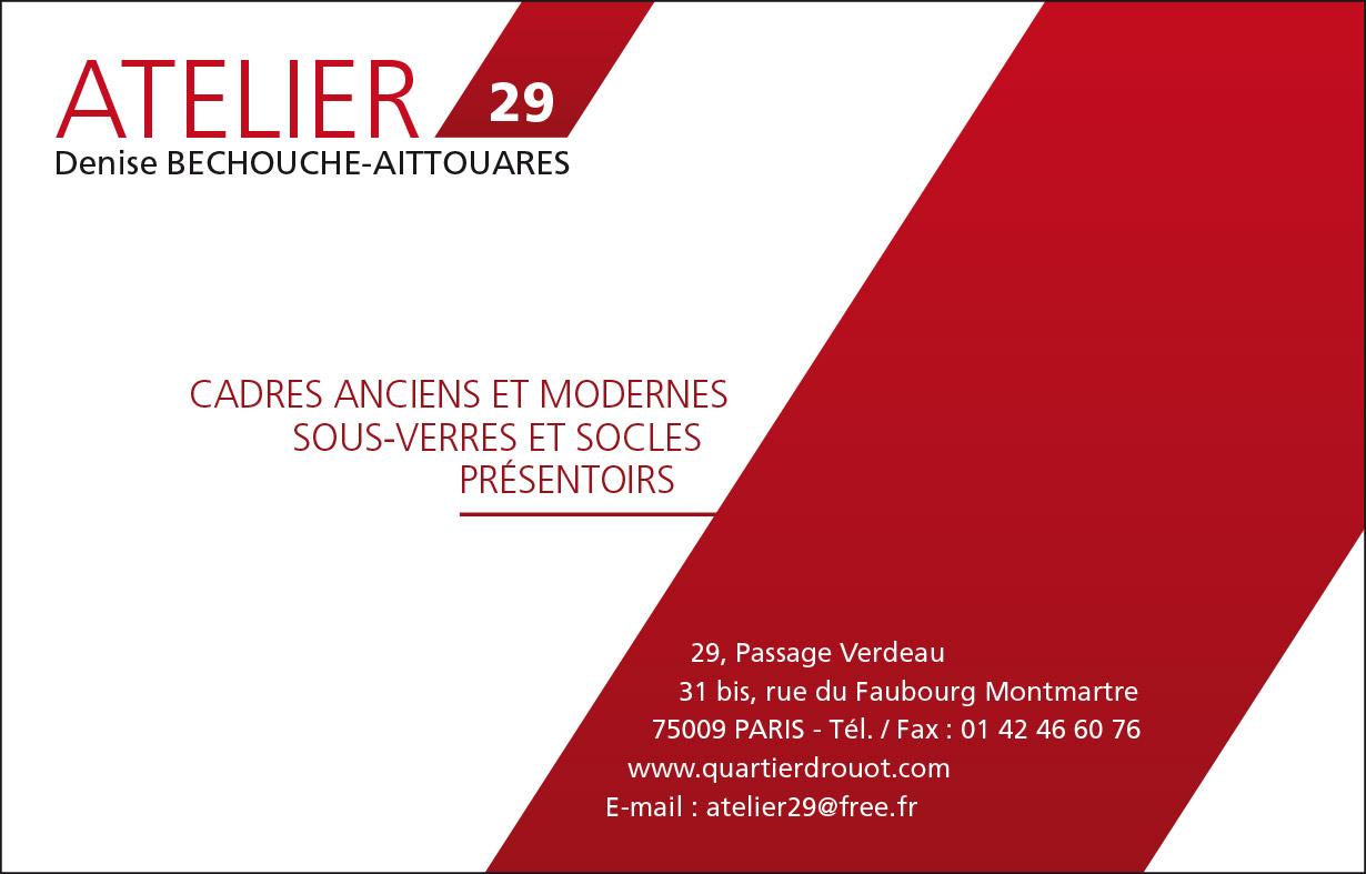 Creation Carte De Visite Pour Un Artisans Encadreur ATELIER 29 125x80 2