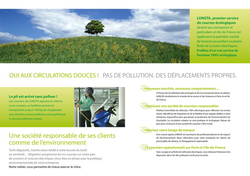 Création brochure socété coursier ecolo